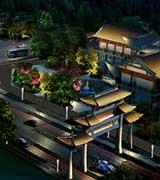 陕西扶风七星河国家湿地夜景照明设计