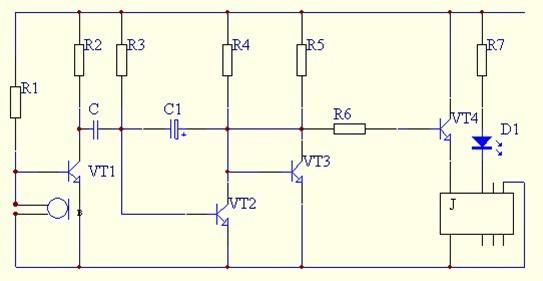 1.2 声控自动照明灯原理分析