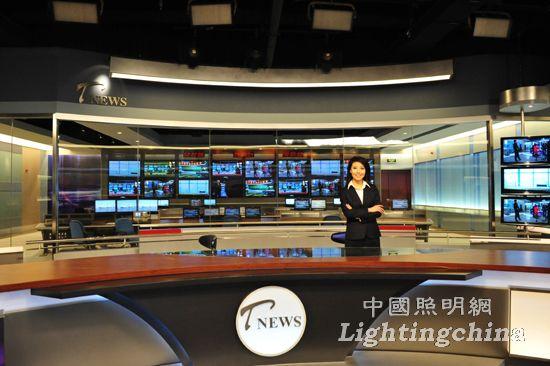 中照奖:天津数字电视大厦新闻演播厅室内照明工程