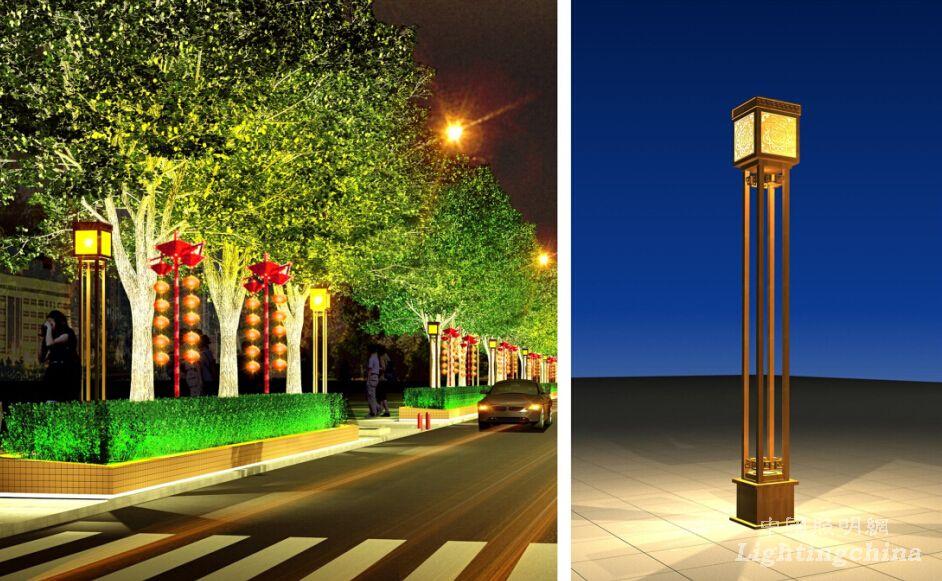 设计 案例 正文  ,景观灯具设计以传统元素为意向,高雅华丽.图片